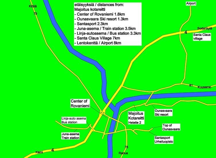 Kartta Map Karta Majoitus Kotareitti
